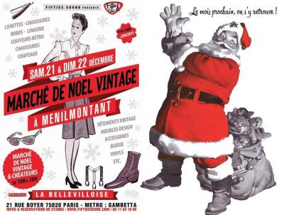marche de noel vintage a la belleviloise le 21 et 22 decembre 2013(paris 20eme)