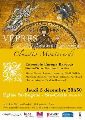 Vêpres à la Vierge de Monteverdi