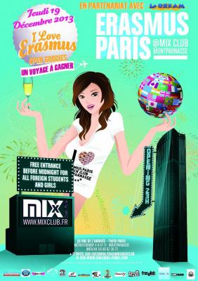 Erasmus Paris : I Love Erasmus (1 Voyage à gagner)