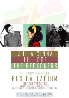 Julia Cinna + Lili Poe + The Reckoners