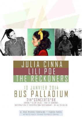 Julia Cinna + Lili Poe + The Reckoners