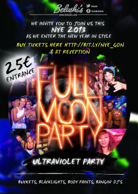Paris New year's eve : Full Moon Party