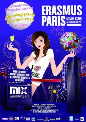 Erasmus Paris : Opening Party Erasmus 2014