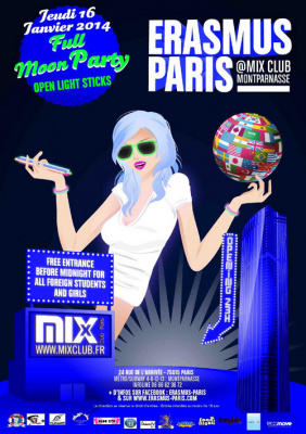 Erasmus Paris : Full Moon Party