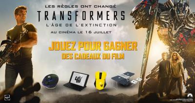 Transformers, l'âge de l'extinction : gagnez vos goodies !