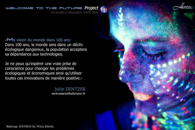 Welcome to the future : participez à un shooting photo de body painting phosphorescent !