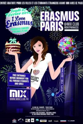 Erasmus Paris : I Love Erasmus