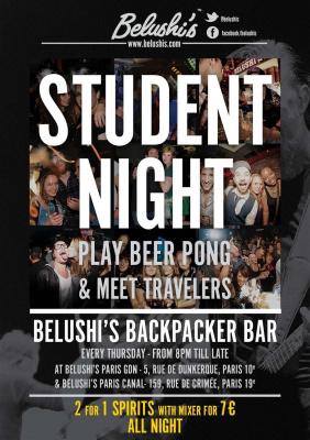 Student Night Belushi's Canal