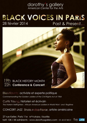 CONCERT & CONFERENCE – Black Voices in Paris: Past & Present…
