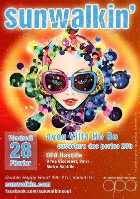 Sunwalkin - live funk à l'OPA Bastille