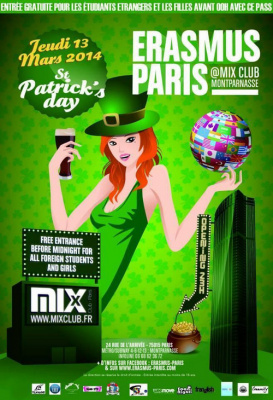 Erasmus Paris : St Patrick's Day
