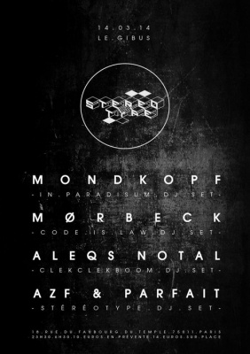 Stéréotype W/Mondkopf, Mørbeck, Aleqs Notal, Azf & Parfait