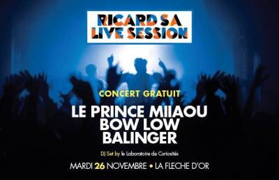Ricard S.A Live Music Session à La Flèche d'Or : Le Prince Miiaou en concert gratuit