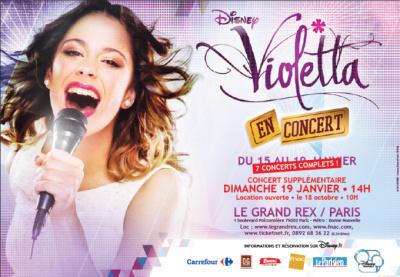 Violetta, la série à succès de Disney Channel, en concerts au Grand Rex en 2014 : nouvelle séance