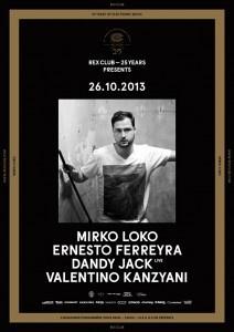 Rex Club « 25 years » avec Mirko Loko