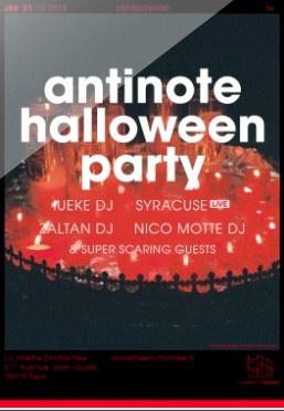 Antinote Halloween Party 2013 à La Villette Enchantée