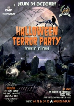 Halloween Terror Party 2013 sur la Péniche Henjo