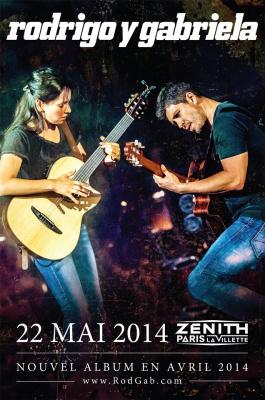 Rodrigo y Gabriela en concert au Zénith de Paris en mai 2014