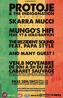 Protoje & The Indiggnation au Cabaret Sauvage