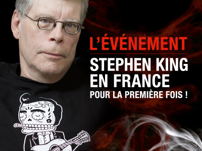 Stephen King en séance de dédicace au Store du MK2 Bibliothèque