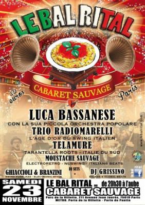 Le Bal Rital «  Musique et pasta à l'italienne » au Cabaret Sauvage