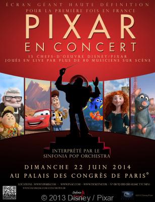 Pixar en concert au Palais des congrès de Paris en juin 2014
