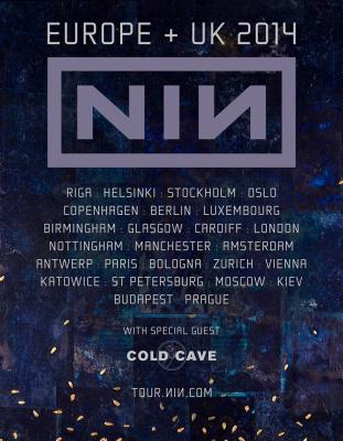 Nine Inch Nails en concert au Zénith de Paris en mai 2014