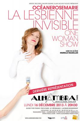 OcéaneRoseMarie la Lesbienne Invisible à l'Alhambra: dernière représentation à Paris