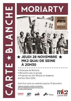 Moriarty et Saint Michel en carte blanche au MK2 Quai de Seine