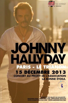 Johnny Hallyday en concert exceptionnel et solidaire au Trianon de Paris