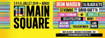 Guide des Festivals 2014 : Main Square Festival à Arras