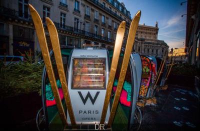 Station de ski éphémère au W Paris-Opéra