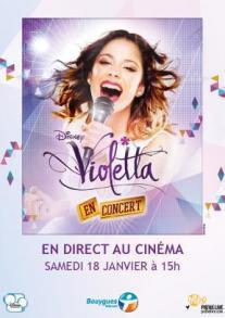 Violetta en concert : Retransmission en direct au cinéma le 18 janvier