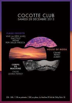 Cocotte Club à la Machine du Moulin Rouge avec Chloé