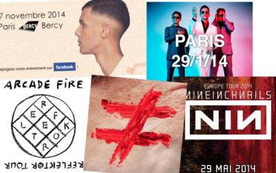 Les concerts de 2014 à Paris