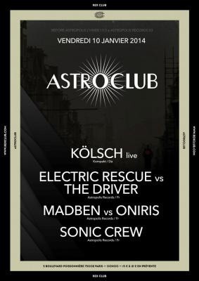 Astroclub au Rex Club avec Electric Rescue