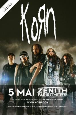 Korn en concert au Zénith de Paris en mai 2014