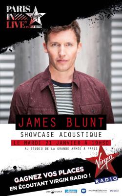 James Blunt en showcase privé Virgin Radio au Studio de la Grande Armée : gagnez vos invits !