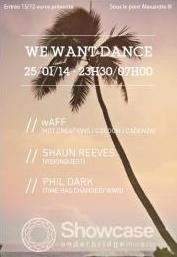 We Want Dance au Showcase avec Shaun Reeves