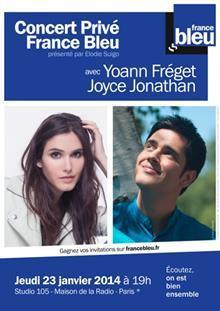 Concert Privé France Bleu avec Joyce Jonathan et Yoann Fréget