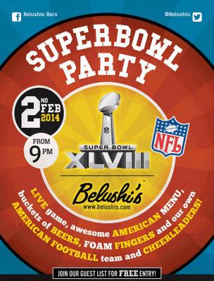Fête du Super Bowl XLVIII au Belushi's à Paris