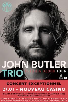 John Butler Trio en concert exceptionnel au Nouveau Casino