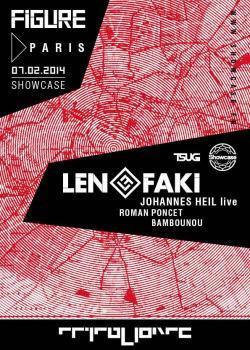 Figure Label Night au Showcase avec Len Faki
