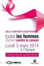 Gala 2014 « 2000 femmes chantent contre le cancer » à l'Olympia de Paris