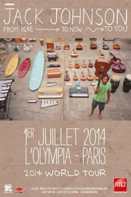 Jack Johnson en concert à l'Olympia de Paris en juillet 2014