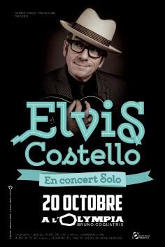 Elvis Costello en concert solo à l'Olympia de Paris