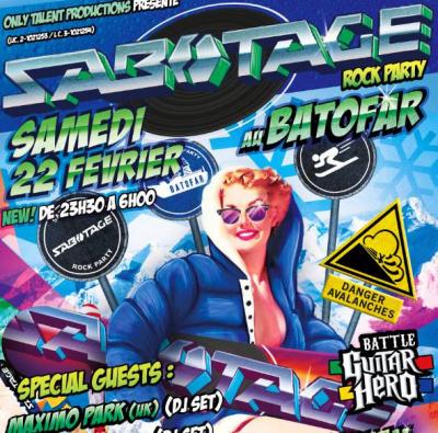 Sabotage Rock Party au Batofar avec Maximo Park en DJ Set