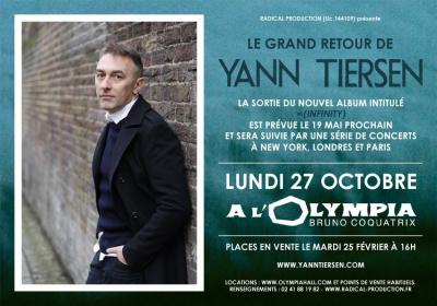 Yann Tiersen en concert à l'Olympia de Paris en 2014