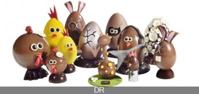 Pâques 2014 : Christophe Roussel et son bestiaire chocolaté