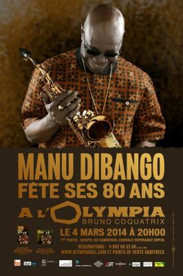 Manu Dibango en concert à l'Olympia de Paris pour ses 80 ans